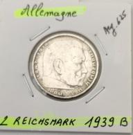 ALLEMAGNE - 2 REICHSMARK 1939 B - [ 4] 1933-1945 : Third Reich