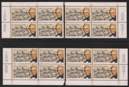 CANADA 1974 SCOTT 655**  PLATE BLOCK SET - Blocks & Sheetlets