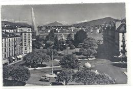 Cpsm Format Cpa.7021. GENEVE . PLACE DES ALPES ET LE MONT-BLANC . AFFR LE 5 XI 1962 A COLOGNY . 2 SCANES - GE Genève