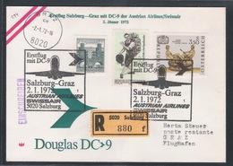 AUA Eröffnungsflug Erstflug Reco 2.1.1972 Salzburg-Graz ANK 294 - AUA-Erstflüge