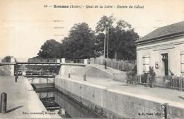 CPA 42 ROANNE QUAI DE LA LOIRE ENTREE DU CANAL - Roanne