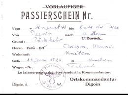 PASSEPORT. LAISSER PASSER. - Documents Historiques