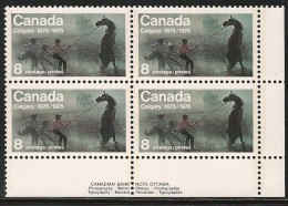 CANADA 1975 SCOTT 667**  PLATE BLOCK LR - Ongebruikt
