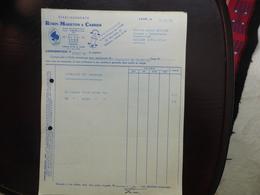 FACTURES ETS ROBIN MARIETON ET CARRIER - MANUFACTURE JOUETS - LYON - 22 NOVEMBRE 1956 ET FEVRIER 1957 - 1950 - ...