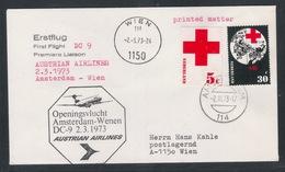 AUA Eröffnungsflug Erstflug 2.3.1973 Amsterdam-Wien ANK 0303 - AUA-Erstflüge