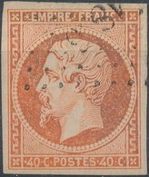 FRANCE - 1853, Yt 16, 40c, Oblitére - 1853-1860 Napoleon III