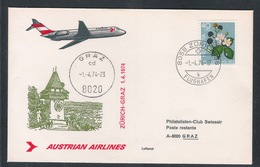 AUA Eröffnungsflug Erstflug 1.4.1974 Zürich-Graz ANK 0310 - AUA-Erstflüge