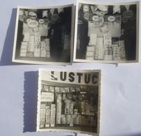 Rare Lot 3 Photos De Représentant Vente Publicitaire LUSTUCRU Tête De Gondoles Pâtes Riz Raviolis Années 60 - Alimentaire