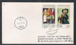 AUA Grußpost 27.11.1975 Berlin (DDR)-Wien ANK 326 - AUA-Erstflüge