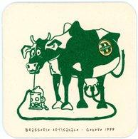 Suisse. Schweiz. Switserland. Les Brasseurs. Brasserie Artisanale - Genève 1999. Vache Buvant De La Bière. - Sous-bocks