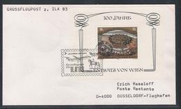 AUA Grußflugpost 7.10.1983 Wien-Düsseldorf ANK 386 - AUA-Erstflüge