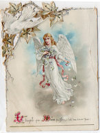 Souvenir De Première Communion - Marie Louise Grangé MARSEILLE - Colombe Messagèreet Ange 433   (119232) - Images Religieuses