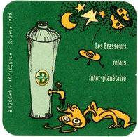 Suisse. Schweiz. Switserland. Les Brasseurs. Brasserie Artisanale - Genève 1999. Les Brasseurs, Relais Inter-planétaire. - Sous-bocks