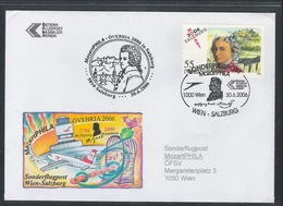 AUA Sonderflugpost 30.6.2006 Wien-Salzburg - AUA-Erstflüge