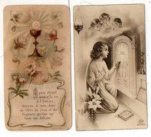 Souvenir De Première Communion - 2 Images - Avignon (1906) Chateaurenard (19383   (119232) - Devotion Images
