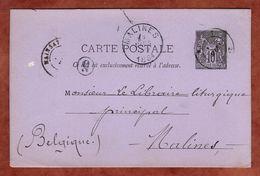 P 7 Allegorie, Mainsat Nach Malines 1884 (93221) - Cartoline Postali E Su Commissione Privata TSC (ante 1995)