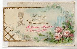 Souvenir De Première Communion -  1905 - Gaufré   (119233) - Devotion Images
