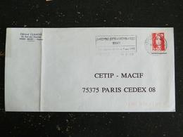 NIORT C.T. - DEUX SEVRES - FLAMME DOUBLE CERCLE JARDINS EXTRAORDINAIRES FOIRE EXPOSITION 1993 SUR MARIANNE BRIAT - Marcophilie (Lettres)