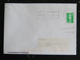 NIORT C.T. - DEUX SEVRES - FLAMME DOUBLE CERCLE FOIRE EXPOSITION 1995 SUR ROULETTE MARIANNE BRIAT - Marcophilie (Lettres)