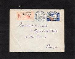 LSC 1955 - Recommandé Et Cachet Rond - VILLENEUVE SUR ALLIER  Sur  YT 973 - Postmark Collection (Covers)