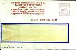 Lettre  EMA  Havas CG 1967 Le Numero Immatriculation   Transport 75 Paris   C21/21 - Affrancature Meccaniche Rosse (EMA)