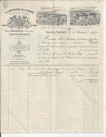 CHASSAGNE MONTRACHET     Facture Pour L'HOTEL DIEU DE BAYEUX   B DE MONTHELIE Proprietaires De Vignes 1925 - France