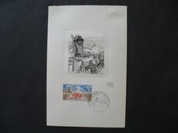 Epreuve D'artiste De Andréotto Claude Graveur Tirage De 70 Exemplaires Timbre N°1656 Histoire De France  Format 13x21 - Epreuves D'artistes