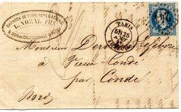 Seine - LAC Affr N°29A Obl GC 241 C 17 Paris Auteuil - 1849-1876: Période Classique