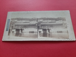 PHOTO STEREOSCOPIQUES SUR CARTON / LYON / COTEAU DE FOURVIERES / 1900 / DOS SCANNE - Photos Stéréoscopiques