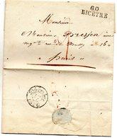 Seine - LAC (du 16/12/1826) Avec Marque 60/BICETRE - Bureau Rare à Cette époque - 1801-1848: Vorläufer XIX
