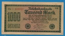 DEUTSCHES REICH 1000 Mark Code OE15.09.1922# Uc * 819737 P# 76b - [ 3] 1918-1933 : Weimar Republic