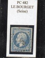 Seine - N° 14Af Obl PC 482 Le Bourget - 1853-1860 Napoléon III