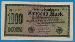 DEUTSCHES REICH 1000 Mark  Code KH15.09.1922# Qd 167936 P# 76c - [ 3] 1918-1933 : Weimar Republic