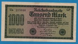 DEUTSCHES REICH 1000 Mark  Code GP15.09.1922# Ua 215646 P# 76d - [ 3] 1918-1933 : Weimar Republic