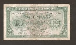 BELGIO 10 FRANCS 1943 (W84) - 10 Franchi-2 Belgas