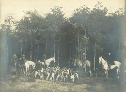 Foto Zutendaal 1912 Jacht Jager Drijfjacht Slipjacht Chasse Chasseur (17 X 24cm) Sint Hubertus Feesten ? Zutendael - Lieux