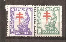 España/Spain-(MH/*) - Edifil  1008-10 - Yvert 758-59, Aéreo-233 - 1931-50 Ongebruikt
