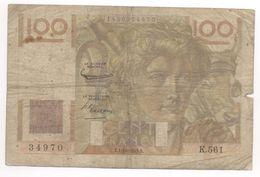 100 FRANCS JEUNE PAYSAN 1/10/1953 K561 - 100 F 1945-1954 ''Jeune Paysan''