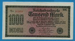 DEUTSCHES REICH 1000 Mark Code MK15.09.1922# Yb 212273 P# 76g - [ 3] 1918-1933 : Weimar Republic