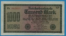 DEUTSCHES REICH 1000 Mark Code GP15.09.1922# Fb 902813  P# 76g - [ 3] 1918-1933 : Weimar Republic