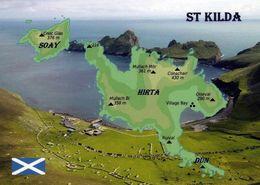1 Map Of St. Kilda Scotland * Landkarte Der Inselgruppe St Kilda Mit Den Inseln Hirta (Hauptinsel) Und Soay * - Cartes Géographiques