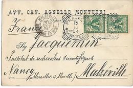 Italie PRAIANO CAD De 1904 Sur Paire Aigle 5c Carte AVV. CAV. AGNELLO MONTUORI 1904   .G - Other