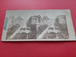 PHOTO STEREOSCOPIQUES SUR CARTON / LYON / RUE IMPERIALE  / 1900 / DOS SCANNE - Stereo-Photographie