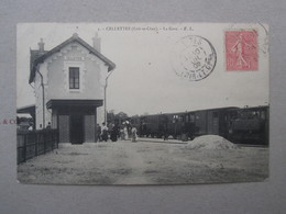 3 -CELLETTES ( Loir Et Cher ) - LA Gare - Autres Communes