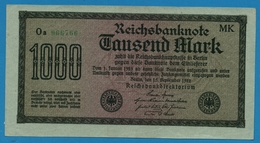 DEUTSCHES REICH 1000 Mark Code MK15.09.1922  # Oa 966766 P# 76h - [ 3] 1918-1933 : Weimar Republic