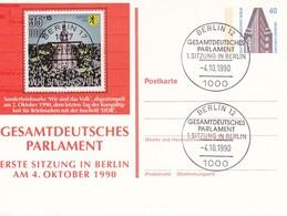 Berlin - Ganzsache Und Sonderstempel 1. Sitzung Gesamtdeutsches Parlament - 4.10.1910  (49203) - Cartes Postales Privées - Oblitérées