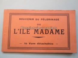 L'ILE MADAME CARNET DE 10 CARTES SOUVENIR DU PELERINAGE (Complet) - France
