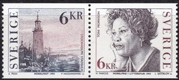 Schweden, 1993, Mi. Nr. 1801/02, MNH **, Nobelpreisträger Für Literatur. - Suède