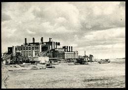 """Leningrad_8, St.Petersburg, Um 1930, Das 5-te Staatliche Elektrizitätswerk, електрическая стания, """"красныи октябръ"""" - Russie"""