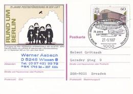Berlin - Ganzsache Postkarte Mit Sonderstempel LUPOSTA - Rund Um Berlin - 1987 (49207) - Cartes Postales Privées - Oblitérées